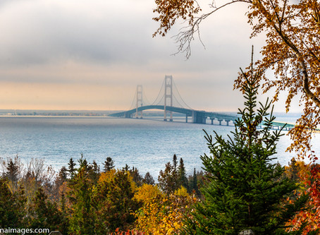 Top 5 locations to photograph the Mackinaw Bridge from.