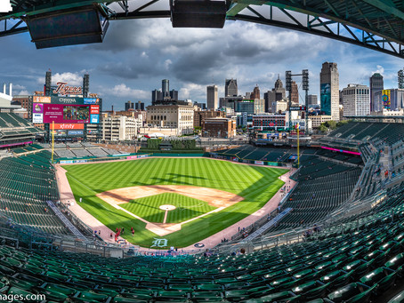 Visiting Comerica Park for a Tigers game.