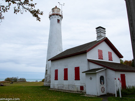Visiting the Sturgeon Point Lighthouse.