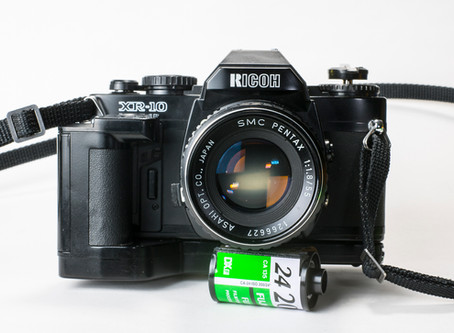 Reviewing the Ricoh XR-10 SLR film camera.