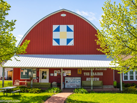 Visiting the Wheels Across the Prairie Museum in Tracy, Minnesota.
