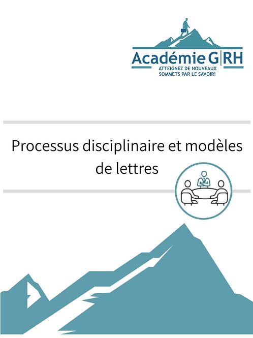 Processus disciplinaire