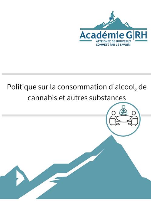 Politique de consommation d'alcool, drogues et autres substances