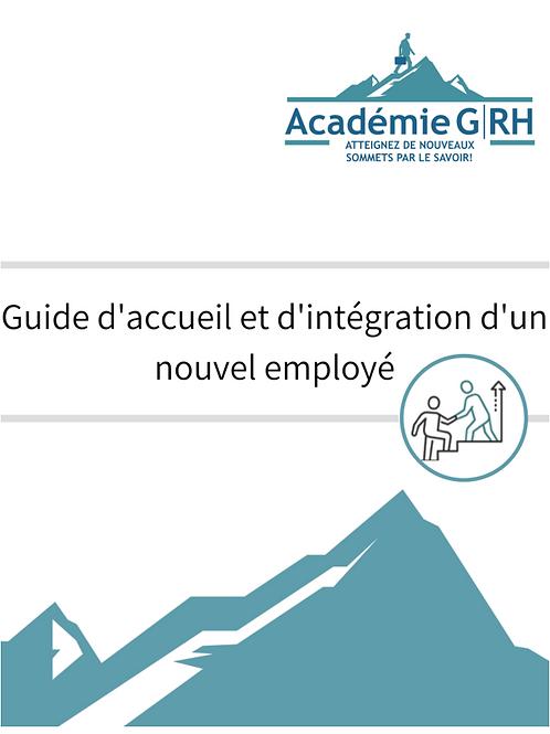 Guide d'accueil et intégration d'un nouvel employé