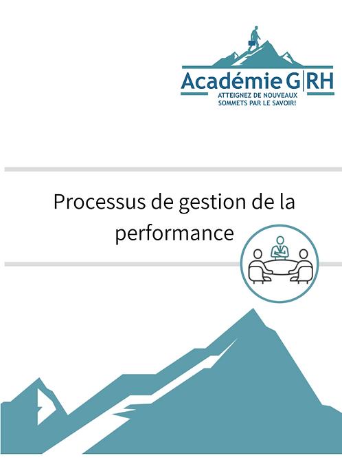 Processus évaluation de la performance et gestion du rendement