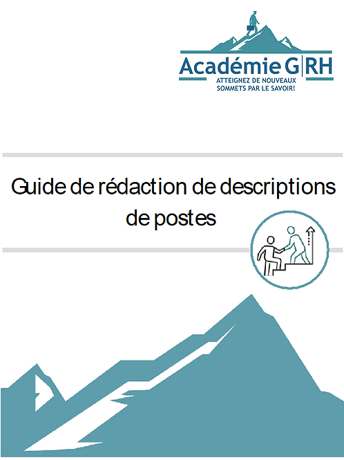 Guide de rédaction des descriptions de postes