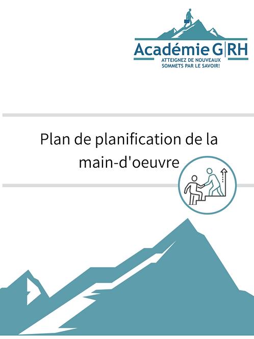 Plan de planification de la main d'oeuvre