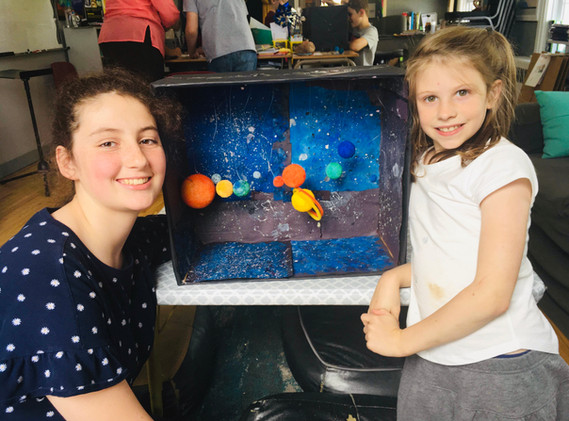MVCS Students with planet project