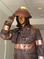bronze fire fighter