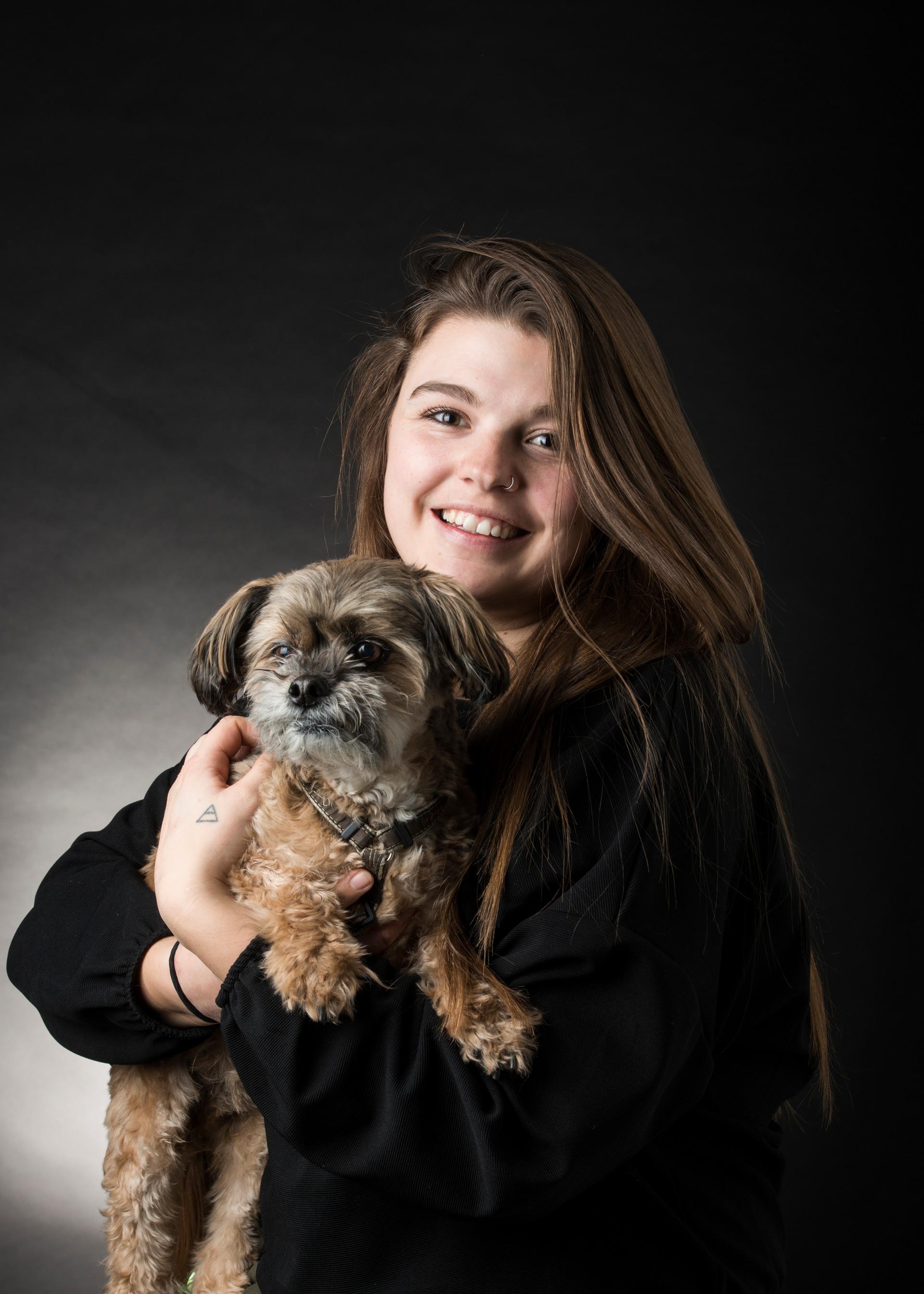 Nahanni and Dog