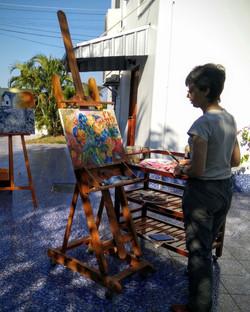 Frances from Hong Kong painting