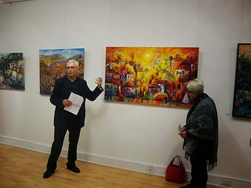 Jeremy Holton at opening of solo exhibition in Perth