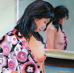 Reflections nude painting