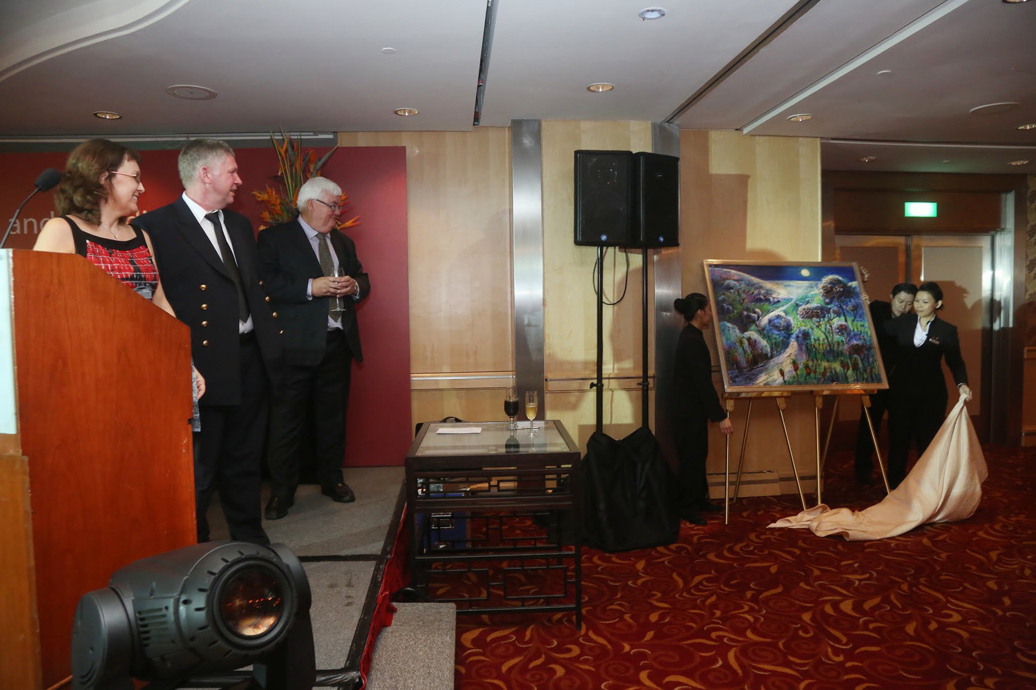 The unveiling of Jeremy's painting