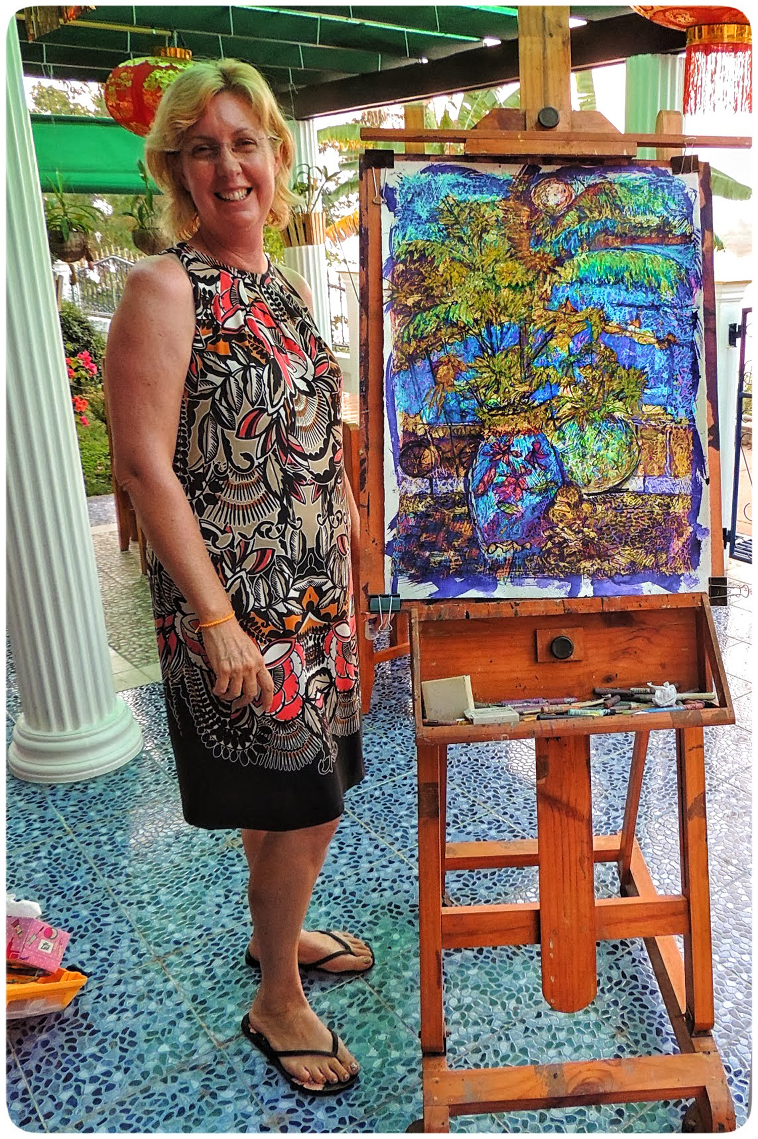Artist Amanda on a painting holiday in Thailand  003