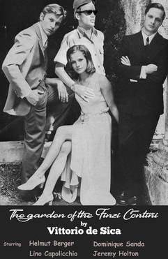 """Vintage film poster """"The garden of the Finzi Contini"""" by Vittoria de Sica"""