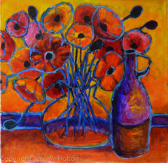 Poppy time flower painting
