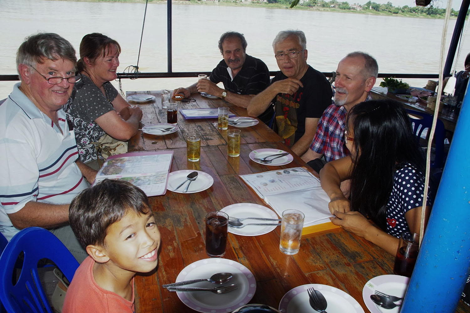 Our guests enjoying lunch on Mekong