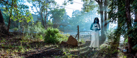 Blue girl - fantasy of girl in Australia