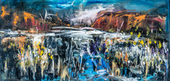 The wet season Australia painting