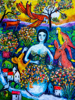 Chagall in Australia painting
