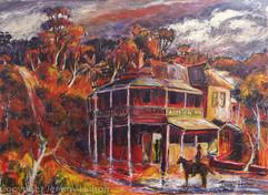 The Weir painting of Mundaring  Australi