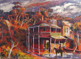 The Weir painting of Mundaring  Australi