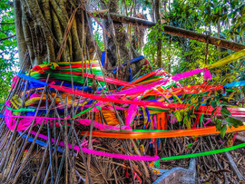 Magical Island colourful ribbons and sti