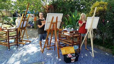 Painting tuition by Jeremy Holton in Thailand