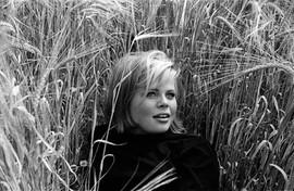 Pretty girl in a wheat field taken in 19