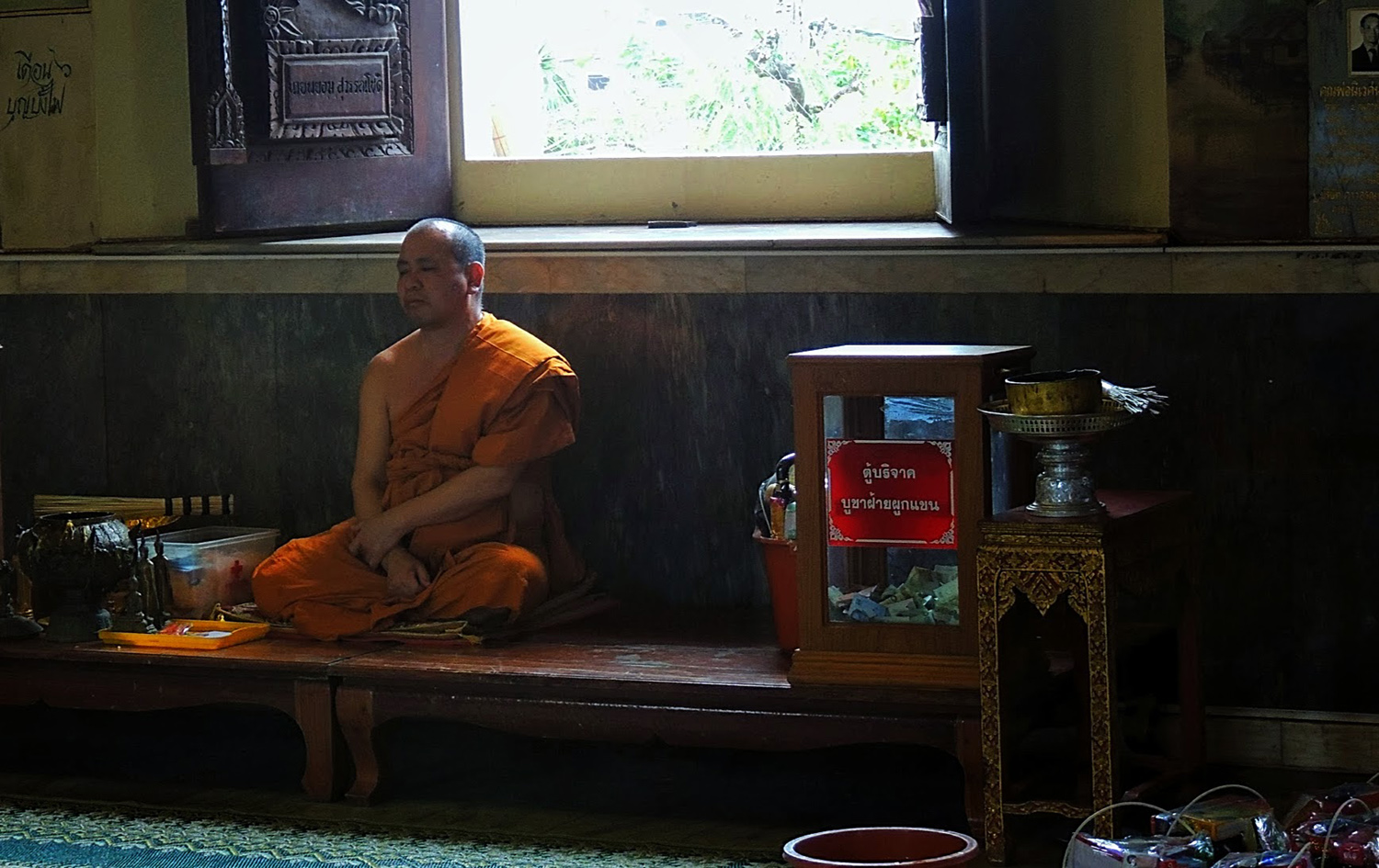 Monk at Wat Pho Chai