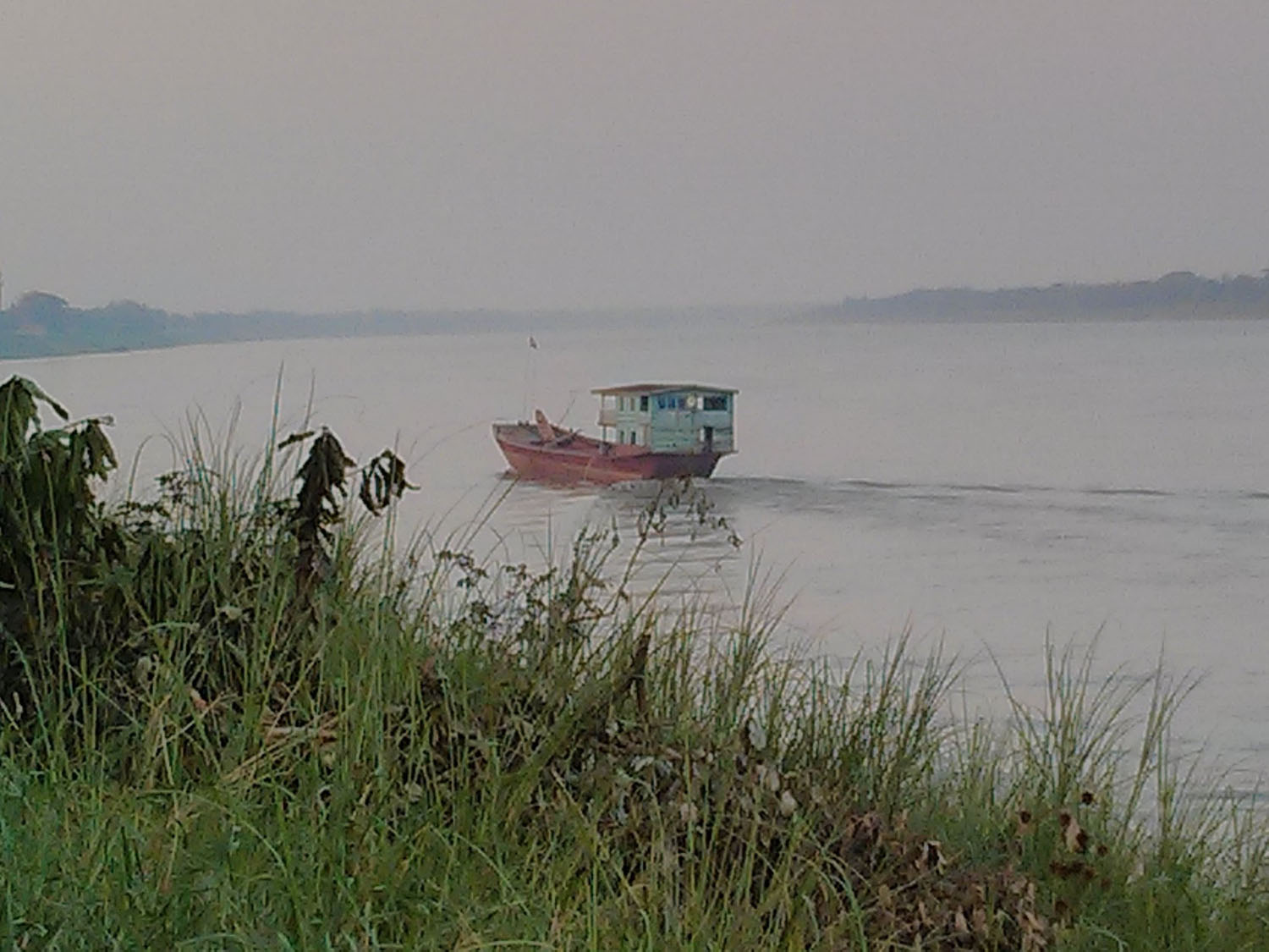 Strange boats on the Mekong River