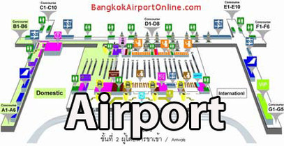 The International Airport in Bangkok on your way to Thailand Painting Holidays