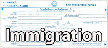 Thai Immigration procedures when visiting Thailand Painting Holidays