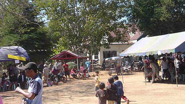 Music and dancing in the village