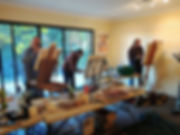 Artists painting workshop at Jeremy Holton's studio in Perth