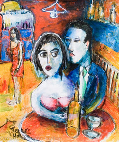 Lost in a bar painting of love and lost