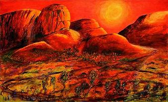 Landscape paintings by Jeremy Holton