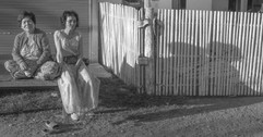 Drifting - two ladies in a village in Th
