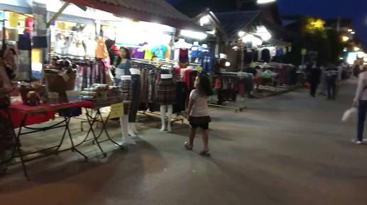 Walking Street at night in Chiang Khan, NE Thailand