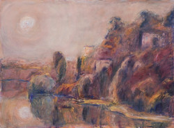 'A paradise for poets' oil on paper