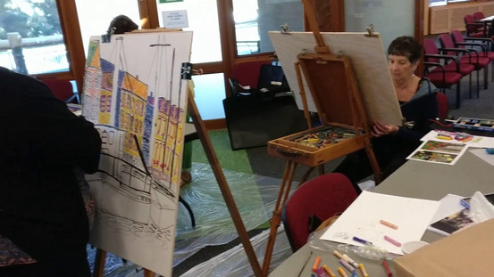 Tap tap tapping learning to paint with oil pastels a class by Jeremy Holton