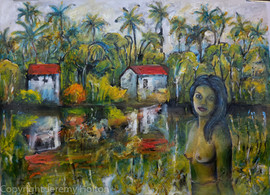 The lagoon a tropical painting