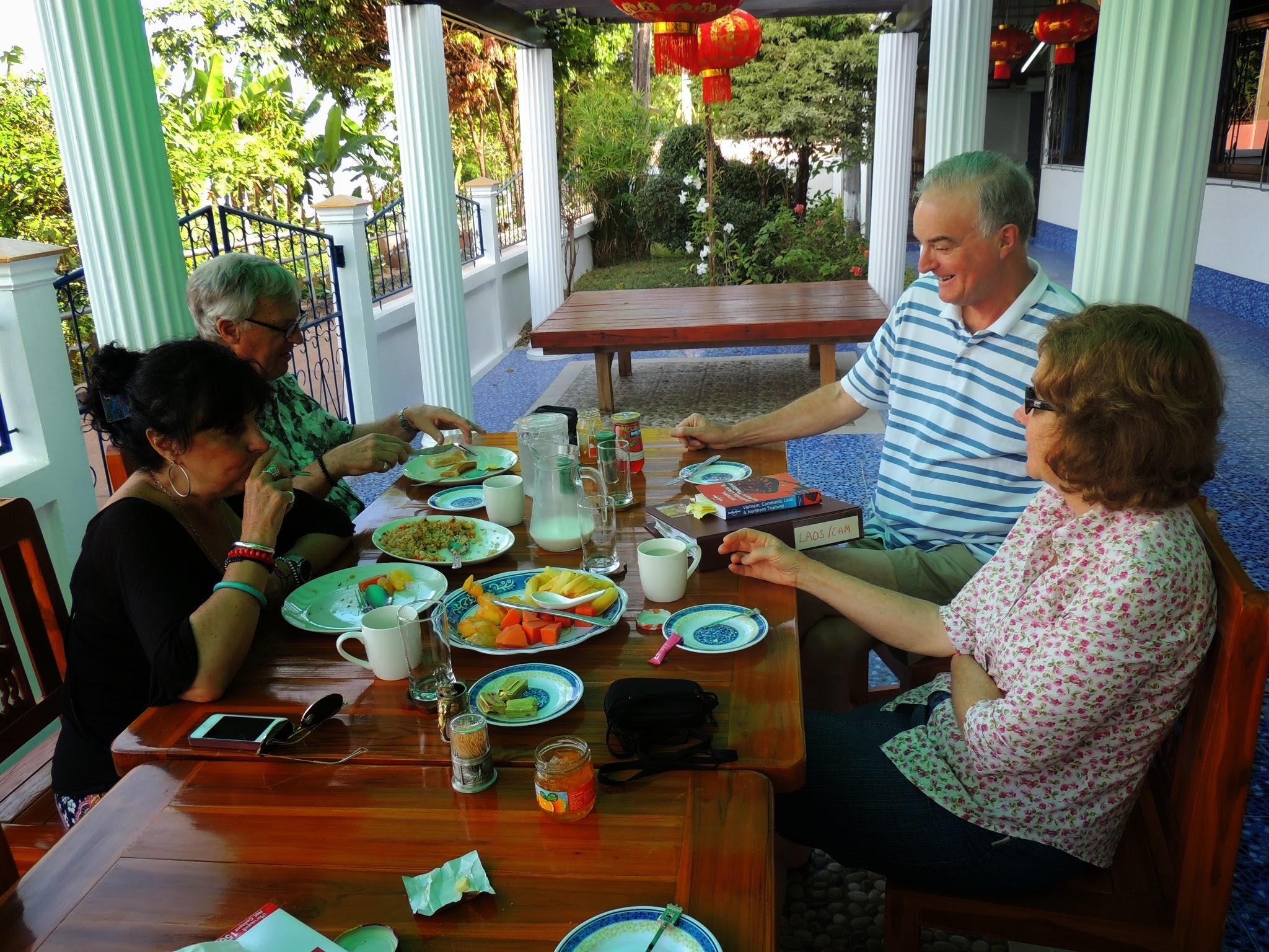 Charles & Majo at breakfast