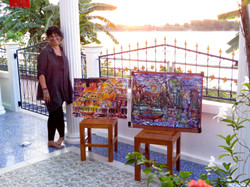Lydia painting with the Mekong