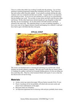 Artist's Palette Magazine Oil Pastel