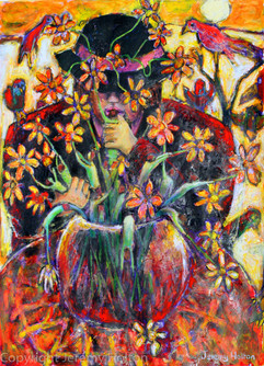 The flower arranger painting
