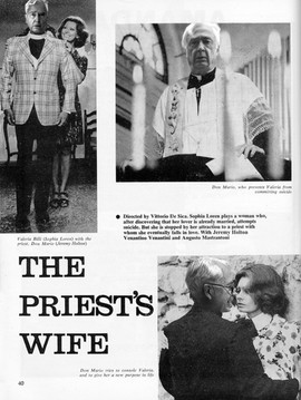 The Priest's wife directed by Vittorio de Sica