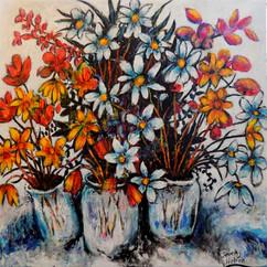 Crescendo of flowers painting