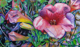 Fragrant blooms a huge flower painting.j